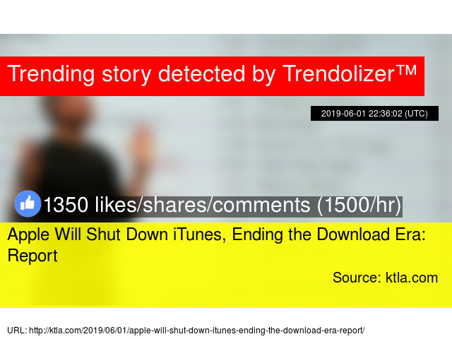 Apple to announce end of iTunes music platform