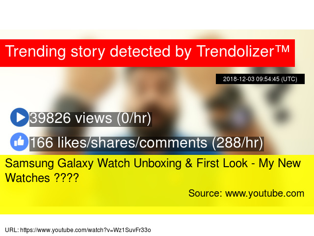 Samsung Galaxy Watch Unboxing & First Look - My New Watches ????
