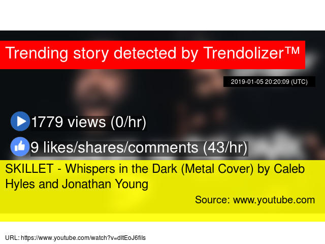 SKILLET - Whispers in the Dark (Metal Cover) by Caleb Hyles and