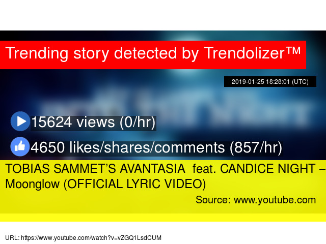 TOBIAS SAMMET'S AVANTASIA feat  CANDICE NIGHT – Moonglow (OFFICIAL