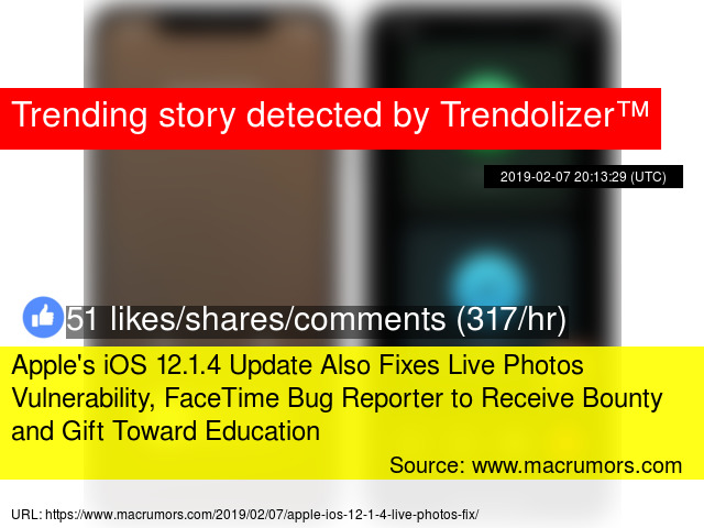 Apple's iOS 12 1 4 Update Also Fixes Live Photos