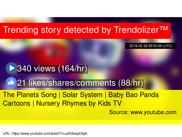 The Planets Song | Solar System | Baby Bao Panda Cartoons