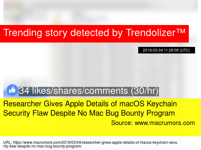 Researcher Gives Apple Details of macOS Keychain Security