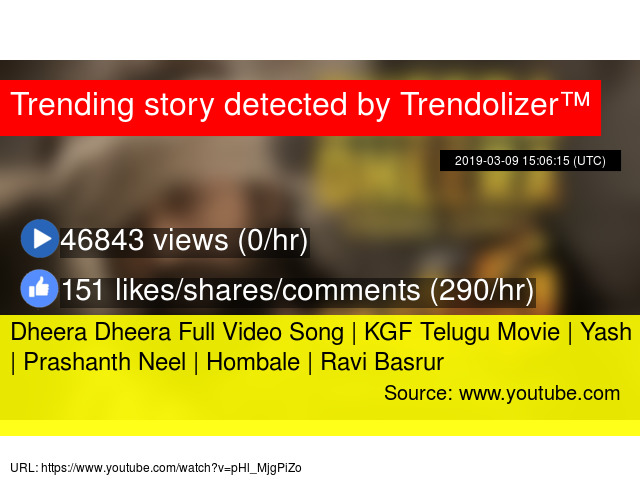 Dheera Dheera Full Video Song | KGF Telugu Movie | Yash | Prashanth