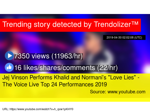 Jej Vinson Performs Khalid and Normani's