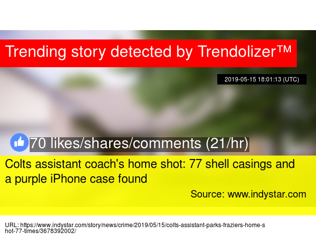 Colts assistant coach's home shot: 77 shell casings and a