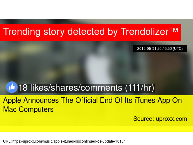 Apple Announces The Official End Of Its iTunes App On Mac