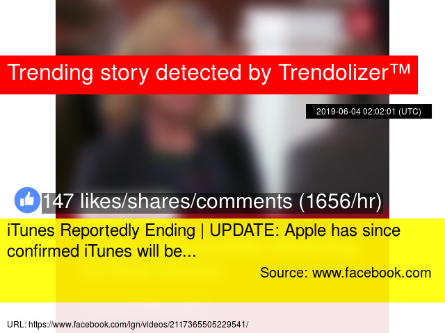 iTunes Reportedly Ending | UPDATE: Apple has since confirmed