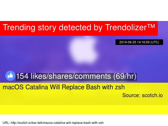 macOS Catalina Will Replace Bash with zsh