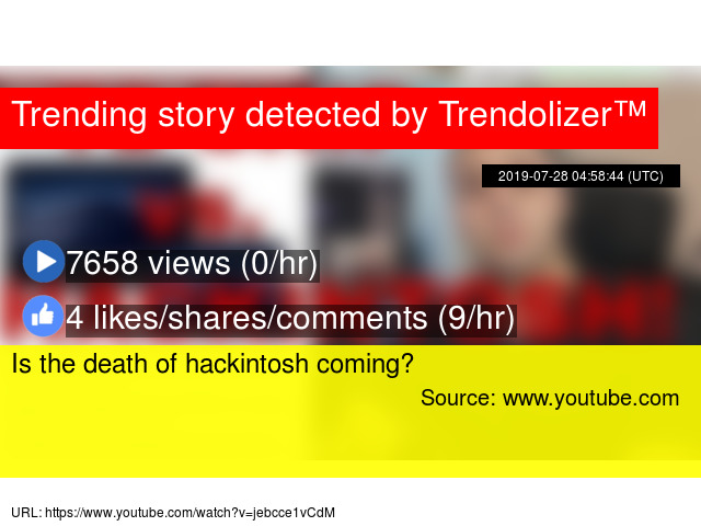 Is the death of hackintosh coming?
