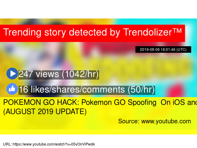 POKEMON GO HACK: Pokemon GO Spoofing On iOS and Android (AUGUST 2019