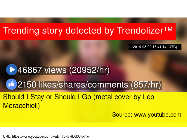 Should I Stay or Should I Go (metal cover by Leo Moracchioli)