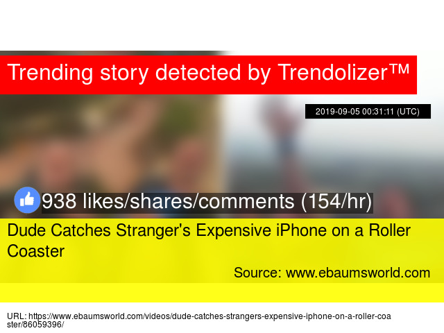 Dude Catches Stranger's Expensive iPhone on a Roller Coaster