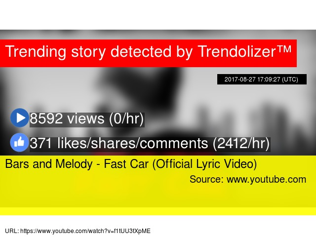 Bars And Melody Fast Car Official Lyric Video - Fast car youtube lyrics