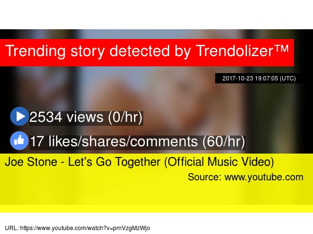 Joe Stone Lets Go Together Official Music Video