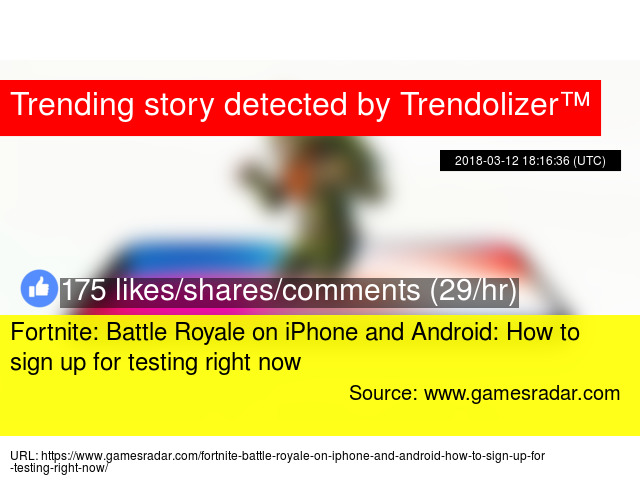 fortnite battle royale on iphone and android how to sign up for testing right now - fortnite battle royale sign