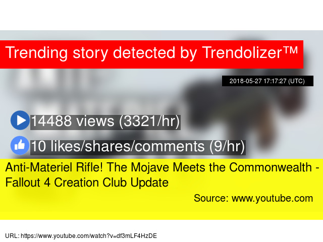 Anti-Materiel Rifle! The Mojave Meets the Commonwealth