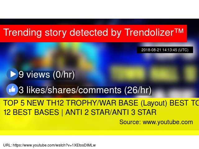 TOP 5 NEW TH12 TROPHY/WAR BASE (Layout) BEST TOWN HALL 12 BEST BASES