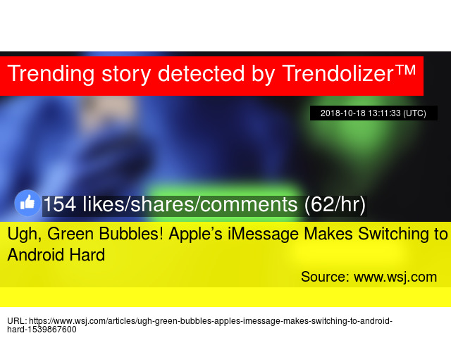Ugh, Green Bubbles! Apple's iMessage Makes Switching to Android Hard
